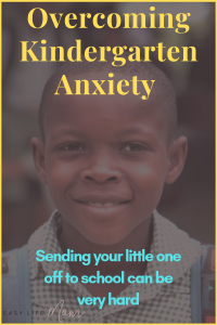 Letting go of your little one entering kindergarten can be very challenging. Trust me I know the feeling. Trust me you will be fine and more importantly your child will too.