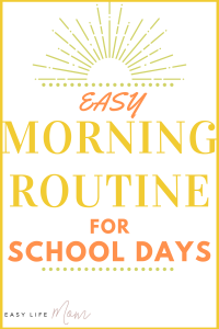 f you follow a routine, you can have some quality time with your child before school.