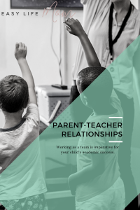 Parent-Teacher relationships are imperative in the success of your child's academic career. You as a parent need to work with your child's teacher.